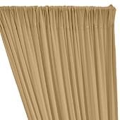 ITY Stretch Drape w/ Sewn Rod Pocket - Tan/Stone