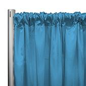 "*IFR* 60"" Wide Elite Taffeta Drape Panel by Eastern Mills w/ 4""  Sewn Rod Pocket - Blue Silk"