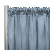 "*IFR* 60"" Wide Elite Taffeta Drape Panel by Eastern Mills w/ 4""  Sewn Rod Pocket - Blue Grey"