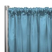 "*IFR* 60"" Wide Elite Taffeta Drape Panel by Eastern Mills w/ 4""  Sewn Rod Pocket - Blue Haze"