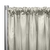"*IFR* 60"" Wide Elite Taffeta Drape Panel by Eastern Mills w/ 4""  Sewn Rod Pocket - Bone"