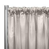 "*IFR* 60"" Wide Elite Taffeta Drape Panel by Eastern Mills w/ 4""  Sewn Rod Pocket - Cream"