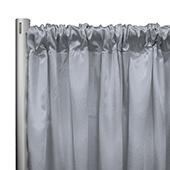 "*IFR* 60"" Wide Elite Taffeta Drape Panel by Eastern Mills w/ 4""  Sewn Rod Pocket - Lt. Grey"