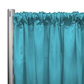 "*IFR* 60"" Wide Elite Taffeta Drape Panel by Eastern Mills w/ 4""  Sewn Rod Pocket - Lt. Turquoise"