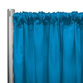 "*IFR* 60"" Wide Elite Taffeta Drape Panel by Eastern Mills w/ 4""  Sewn Rod Pocket - Peacock"