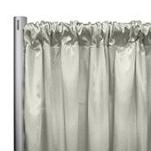 "*IFR* 60"" Wide Elite Taffeta Drape Panel by Eastern Mills w/ 4""  Sewn Rod Pocket - Pearl"