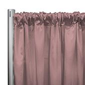 "*IFR* 60"" Wide Elite Taffeta Drape Panel by Eastern Mills w/ 4""  Sewn Rod Pocket - Russ Pink"