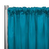 "*IFR* 60"" Wide Elite Taffeta Drape Panel by Eastern Mills w/ 4""  Sewn Rod Pocket - Sea Teal"