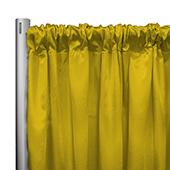"*IFR* 60"" Wide Elite Taffeta Drape Panel by Eastern Mills w/ 4""  Sewn Rod Pocket - Sunshine"