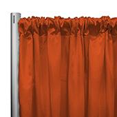 "*IFR* 60"" Wide Elite Taffeta Drape Panel by Eastern Mills w/ 4""  Sewn Rod Pocket - Tangerine"