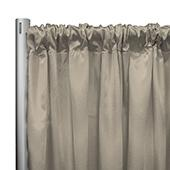 "*IFR* 60"" Wide Elite Taffeta Drape Panel by Eastern Mills w/ 4""  Sewn Rod Pocket - Beige"