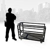 IntelliStage ISCART Lightweight Stage Platform & Riser Storage Trolley