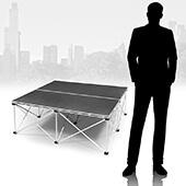 IntelliStage - Lightweight Folding Portable Stage - 3ft x 3ft Platform & Riser Set