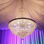"Large Luxe Empire Crystal Chandelier - 36"" H x 30"" D"