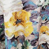 """Yellow Le Jardin Curtain Panel w/ 4"""" Rod Pocket - 110"""" Wide - Many Size Options"""