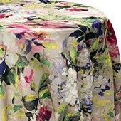 La Jardin Floral Print Tablecloth by Eastern Mills - Pink - Many Size Options