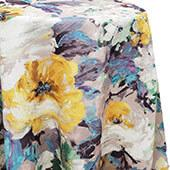 La Jardin Floral Print Tablecloth by Eastern Mills - Yellow - Many Size Options