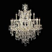 "Medium Luxe 12-Arm Empress Crystal Chandelier - 30"" H x 28"" D"
