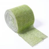 DISCONTINUED ITEM - DecoStar™ Lime Green Rhinestone Mesh - 30 Foot Roll