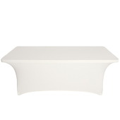 8ft Banquet 200 GSM Grade A Quality Spandex Table Cover - Ivory