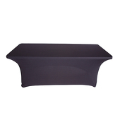 6ft Banquet 200 GSM Grade A Quality Spandex Table Cover - Black