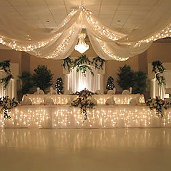 Wedding Ceiling Drapes with Lights | Event Decor Direct