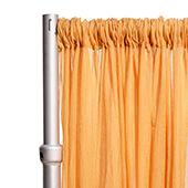 """*FR* 10ft Wide Sheer Voile Curtain Panel by Eastern Mills w/ 4"""" Pockets - Gold"""