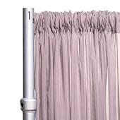 """*FR* Crushed Sheer Voile Curtain Panel by Eastern Mills w/ 4"""" Pockets - 10ft Wide - Grey Lavender"""
