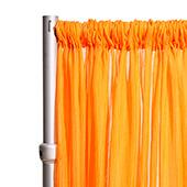 """10ft Wide Sheer Voile Curtain Panel w/ 4"""" Pockets by Eastern Mills - Orange"""