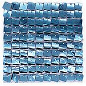 Easy Connect Shimmer Wall Panels w/ Transparent Grid Backing & Square Sequins - 12 Tiles - Light Blue