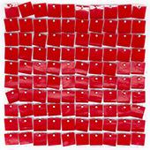 Easy Connect Shimmer Wall Panels w/ Transparent Grid Backing & Square Sequins - 12 Tiles - Red