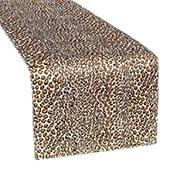 "Sleek Satin Runner 14"" x 108"" - Leopard"