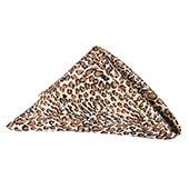 "Sleek Satin Napkin 20""x20"" - Leopard"