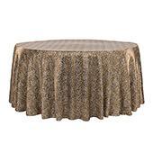 "Sleek Satin Tablecloth 120"" Round - Leopard Design"