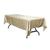 """Sleek Satin Tablecloths 60""""x120"""" Rectangular - Taupe"""