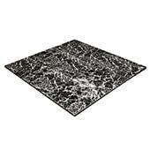 "Luxury Black & White Marble Snaplock Dance Floor Set - Easy Assembly, Portable with Aluminum Side Paneling & Transport Cart! - 12"" x 12"" Tiles"