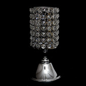DecoStar™ Real Crystal Cylinder Candle holder Pedestal-10.2
