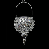 DecoStar™ Real Crystal Hanging Candle Holder - Drop Bottom - MED