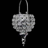 DecoStar™ Real Crystal Hanging Candle Holder - Drop Bottom - SM