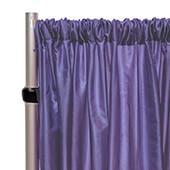 """*FR* Taffeta Drape Panel by Eastern Mills 9 1/2 FT Wide w/ 4"""" Sewn Rod Pocket - Purple"""