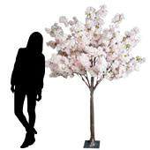 6FT Hydrangea Bloom Tree - Floor or Grand Centerpiece - 10 Interchangeable Branches - Light Pink w/ Leaves