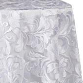 Vienna Sequin and Lace Overlay by Eastern Mills - White - Many Size Options
