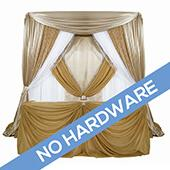FABRIC ONLY! Traditional Theme Pro-Designed Backdrop or 4 Post Canopy Kit - 6ft-14ft Tall