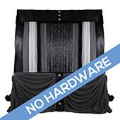FABRIC ONLY! Modern Theme Pro-Designed Backdrop or 4 Post Canopy Kit - 6ft-14ft Tall