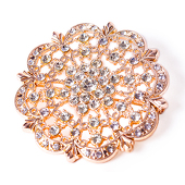 DecoStar™ Diamond Encrusted Antique Brooch - Rose Gold