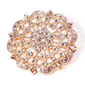 DecoStar™ Diamond Encrusted Antique Brooch - Rose Gold