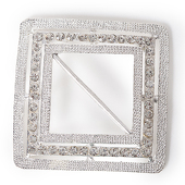 DecoStar™ Diamond Encrusted Diamond Shape Buckle