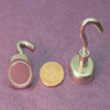 20mm Rare-Earth Super Magnet Hook (Holds 20lbs)