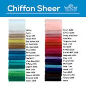 "10ft wide x 16ft long Chiffon Sheer Curtain Panel w/ 4"" Pockets by Eastern Mills - 36 Colors!"