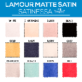 "18FT - *FR* Lamour Matte Satin ""Satinessa"" w/ 4"" Rod Pocket - 118"" Wide - Many Color Options"